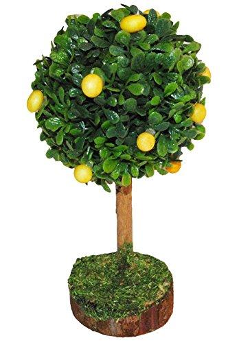 Unbekannt Zitronenbaum Miniatur 13 cm Baum Zitrone für Puppenstube Puppenhaus Garten Bäume Eisenbahn Zitrone
