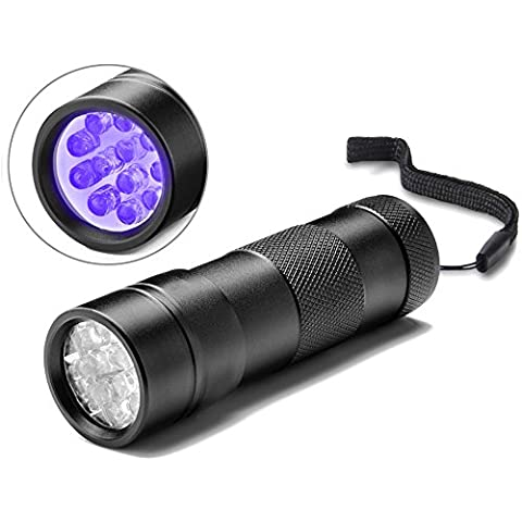Torcia UV, Act® Animali Nero 12LED luci cani/gatti urina Detector,