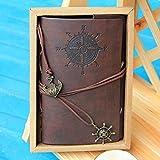 Cobee Cuaderno Vintage Cuadernos de Cuero PU Diseño de Pirata Folleto Diario Notas Notebook Libreta Mano Escrito Viaje (130 x 185 x 20mm)