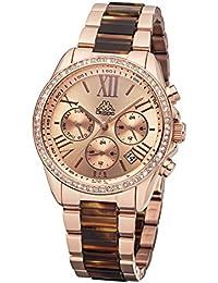 Kappa Mujer Reloj con Banda de metal Fecha Día de la semana GMT KP de 1413l de S