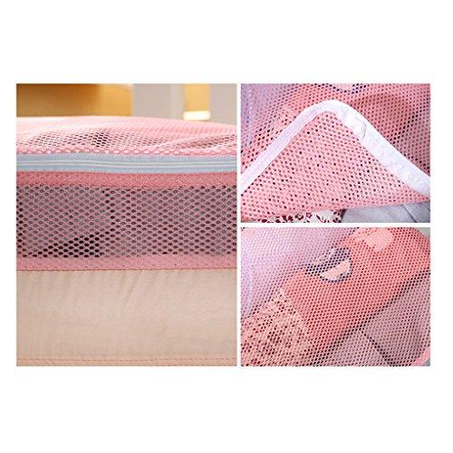 Witery Reisetaschen-Set, für Kleidung, Unterwäsche, zur Aufbewahrung, für den Koffer, mit Griff, Netzgewebe-Taschen, 5 Stück, Grau (Grau) - HOMA0007-02