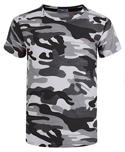 LotMart Boys Military T-Shirt Weave Camo Pattern