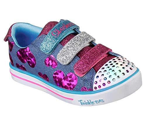 Skechers Sparkle Lite-Flutter Fab, Scarpe da Ginnastica Bambina, Multicolore (Denim/Multi Dmlt), 33 EU
