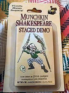 Steve Jackson Games SJG04259 Munchkin Shakespeare Staged Demo - Juego de Mesa Importado de Alemania