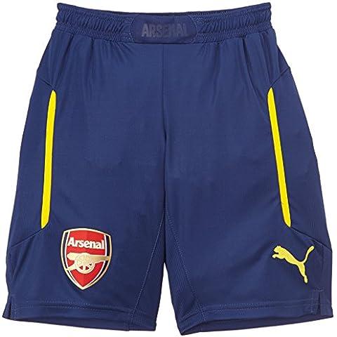PUMA Trikot AFC Kids Away Replica Shirt - Pantalones cortos de fútbol para niño, color amarillo, talla 10 años (140 cm)