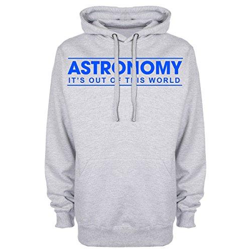 """Astronomia: It """"s Out Of This World-Felpa con cappuccio Grigio"""