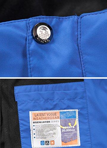 Mochoose Donna Outdoor Mountain Impermeabile Windbreaker Softshell Giacche con Cappuccio Sci Sportwear Rain Coat Campeggio Pesca Caccia Working Jacket Cielo blu