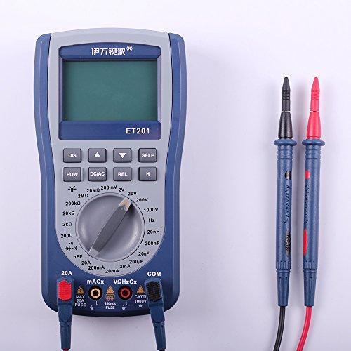 Multímetro digital con pantalla LCD OT201.Osciloscopio portátil de onda de señal
