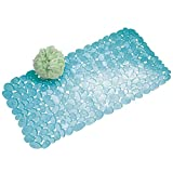 mDesign Bath Mat with Suction Cups - Non Slip...