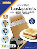 toastapockets - reusable up to 50 times each, twin pack - toastabags