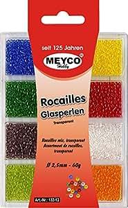 Rocailles Sortiment - Transparent 2. 5mm Inhalt: 60gr