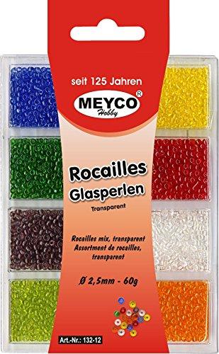 Rocailles-Mini-Glasperlen-Mix-8-Farben-25mm-60g-Transparent