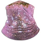 Fleece Neck Warmer,Colorful Fantasy Starry Galaxy Outdoor Knit Headwear Wool Snow Ski Caps Face Mask,for Unisex