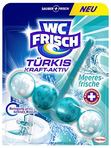 WC Frisch Türkis Kraft-Aktiv Duftspüler Meeresfrische, 10er Pack (10 x 50 g)