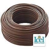 Cavo Icel Elettrico multipolare isolante per impianti elettrici e di tubazione cavo antincendio matassa da 100 metri (Tutor 3G x 2,5 (cavo fror))
