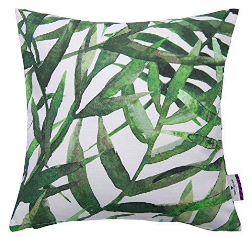 Tom Tailor 564371 T-Bamboo Kissenhülle, Baumwolle, grün / weiß, 40 x 40 cm