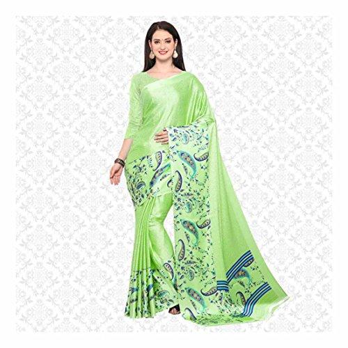 Digital Prints, Printed, Paisley Fashion Art Silk Saree (Light Green) Paisley Printed Silk Dress