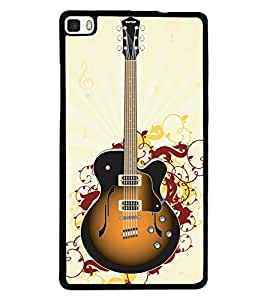 printtech Guitar Back Case Cover for Huawei P8