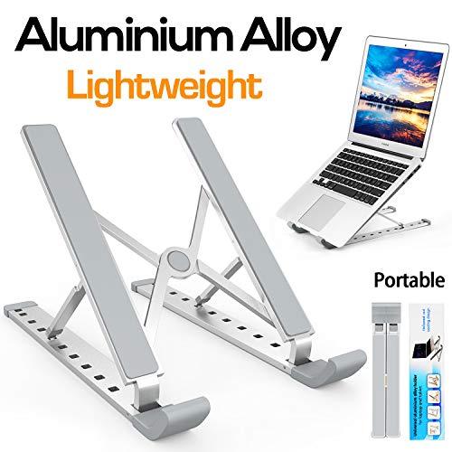 Laptop Ständer, Multi-Winkel Verstellbar, Höhe Einstellbar, Yuede Premium Faltbar Aluminium Tablet Halterung Stand Halter für 10-17 Zoll Notebook/iPad/MacBook, Silber Premium Notebook Pc