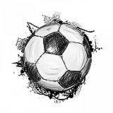 109 Wandtattoo Fussball Teenager Soccer Teenager - in 6 Größen - coole Kinderzimmer Sticker und Aufkleber abwechsungsreiche Wanddeko Wandbild Junge Mädchen Größe 400 x 400 mm