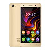 OUKITEL C5 - Android 7.0 3G 5 pollici Smartphone Cornice metallica MTK6580 Quad Core a 1,3 GHz 2 GB di RAM 16 GB ROM doppia fotocamera Dual SIM Anti-tormentone - Oro