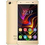OUKITEL C5 - Android 7.0 3G 5 pulgadas Smartphone Marco de metal MTK6580 Quad Core 1.3GHz 2GB RAM 16GB ROM Cámara 5MP + 8MP Doble SIM  Anti-smash - Oro
