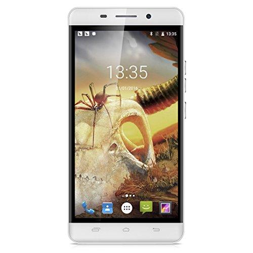 Ulefone Metal 5.0 Zoll 4G-LTE-Smartphone Android 6.0 Octa Core Dual SIM IPS HD Screen Handy ohne Vertrag 3GB RAM+16GB ROM 8.0MP + 2.0MP Front Dual Kamera Smart Wake Touch ID 3050mAh Batterie OTG Silber