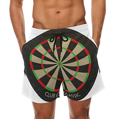 BHWYK Men's Dart Board Vecteezy Beach Board Shorts Quick Dry Swim Trunkfor Summer Vacations M-XXL Code(XXL) (Board Cover Dart)