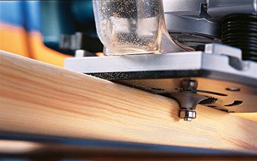 Bosch Professional GOF 2000 CE, Nennaufnahmeleistung, 8.000 – 21.000 min-1 Leerlaufdrehzahl, Kopierhülse 30 mm, L-Boxx, Parallelanschlag, 2.000 W, 0601619770 - 2