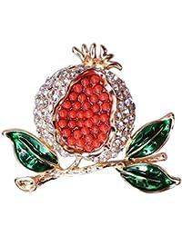 Ludage Exquisito Moda Cientos Diamante Conjunto Granada Broche Serie Frutas