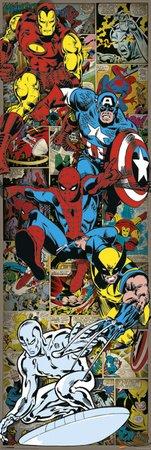 Marvel Comics (Heroes Retro) Poster da porta, 53x 158cm