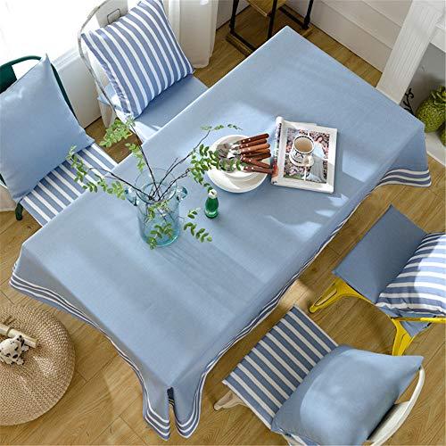 QWEASDZX Einfache und Moderne Tischdecke Ölbeständiges Antifouling Wasserdichte rechteckige Tischdecke Geeignet für den Innen- und Außenbereich 130x180 cm