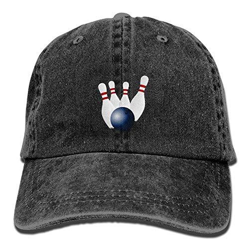 Cowboy Baseball Cap Men&Women Dad Style Hat Bowling (Beanie Was Slouchy)