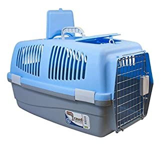 Large Pet Travel Carrier Dog Cat Rabbit Basket Plastic Handle Chrome Plated Hinged Door Transport Box Crate Cage Large Pet Travel Carrier Dog Cat Rabbit Basket Plastic Handle Chrome Plated Hinged Door Transport Box Crate Cage 51qKMmkmT3L