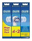 Oral-B Precision Clean Testine di Ricambio per Spazzolini Elettrici, Confezione da 6 Pezzi