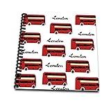 3dRose DB 204398_ 3Print der London Doppeldecker Wiederholen Muster Mini Notizblock, 4von 10,2cm