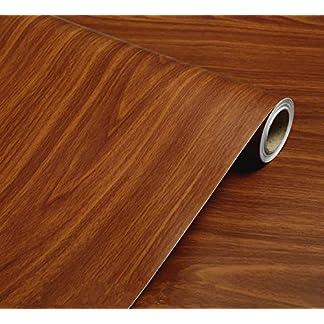 WDragon – Papel de Contacto Autoadhesivo de PVC, Color marrón Oscuro, para mostrador de Granos de Madera, Muebles, armarios, estantes, Forro, Papel Pintado, 40 cm x 250 cm