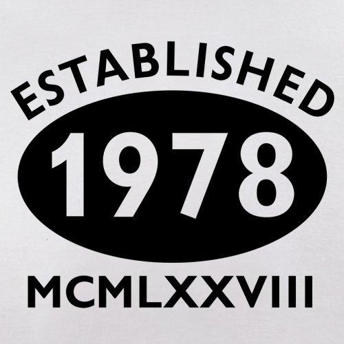 Gegründet 1978 Römische Ziffern - 39 Geburtstag - Herren T-Shirt - 13 Farben Weiß