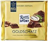 RITTER SPORT 250g Goldschatz (11 x 250 g), hochwertige Vollmilchschokolade, verfeinert mit Trinitario-Kakao und dezenter Milchnote, 250g Großtafel