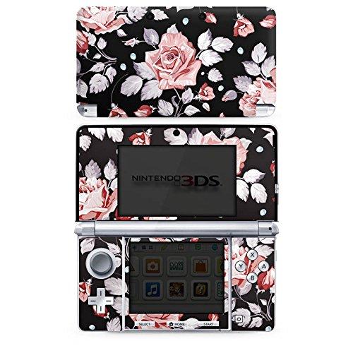 DeinDesign Nintendo 3 DS Folie Skin Sticker aus Vinyl-Folie Aufkleber Rosen Blumen Muster