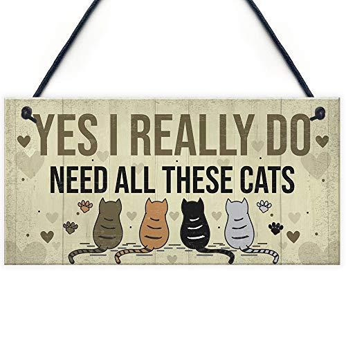 DUHUANG - Placa para Colgar con diseño de Gatos, Ideal, cumpleaños, para Amantes de Las Mascotas, decoración del hogar