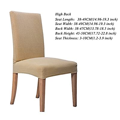 Hemons 4pcs Jacquard Removable Washable Dining Chair Cover Protector Seat Slipcover for Hotel, Dining Room, Ceremony produced by Hemons - quick delivery from UK.