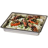 Xavax 00111505 Rectangular Acero inoxidable - Bandeja de horno (Rectangular, Plata, Acero inoxidable, 425 mm, 370 mm, 70 mm)