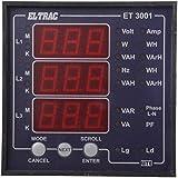 ELTRAC - Multi Function Meter / Multi Data Meter- without RS485 PORT, 9.6 cm x 9.6 cm x 5.2 cm, CL.1.0