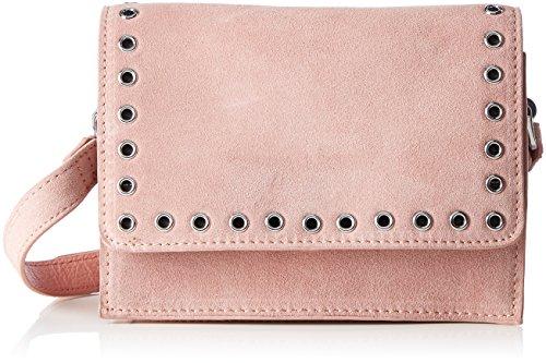 PIECES Damen Pcneema Suede Cross Body Umhängetasche, 8 x 14 x 20 cm Pink (Rose Tan)