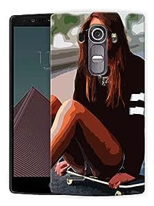 "Humor Gang Girl On Skateboard Printed Designer Mobile Back Cover For ""LG G4"" (3D, Matte Finish, Premium Quality, Protective Snap On Slim Hard Phone Case, Multi Color)"