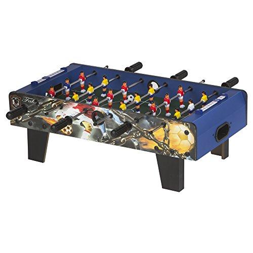 ColorBaby - Futbolín madera azul 18 jugadores - 69x37x24