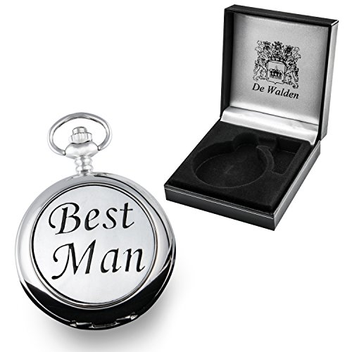 Best Man Gift, Engraved Pocket Watch  Pewter