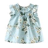 LEXUPE Bekleidung Kleinkind Kind Baby Mädchen Outfits Kleidung Blumendruck Party Pageant Princess Dress