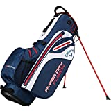 Callaway 2018 Hyper Dry Fusion Stand Bag Mens Golf Trolley Bag 14-Way Divider Navy/White/Red